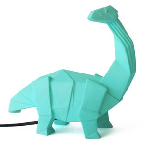Large LED Lamp - Green Origami Dinosaur Lamp - House of Disaster - how-i-wonder