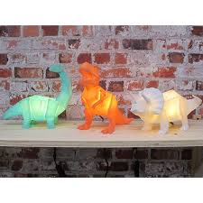 LED Mini Orange Origami Dinosaur Lamp - House of Disaster - how-i-wonder