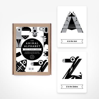 Alphabet Flash Cards - Black and White - The Jam Tart - how-i-wonder