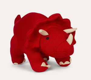 Large Knitted Dinosaur - Triceratops - Best Years - how-i-wonder