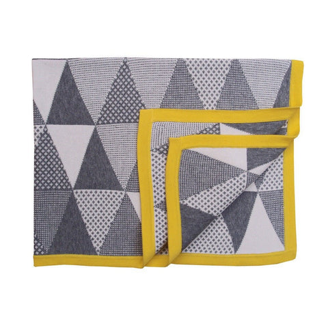 Unique Cotton Baby Blanket - Zest Geometric Blanket - How I Wonder.co.uk - 1