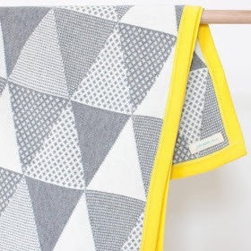 Unique Cotton Baby Blanket - Zest Geometric Blanket - How I Wonder.co.uk - 2