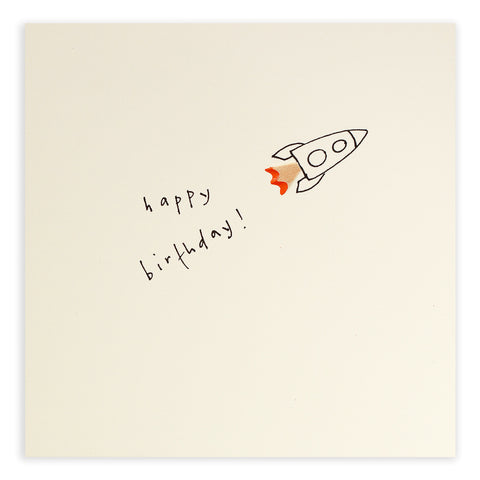 Birthday Rocket - Greetings Card - Ruth Jackson - how-i-wonder