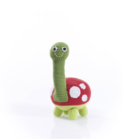 Pebble Fair Trade - Large Crochet Turtle soft toy - How I Wonder.co.uk