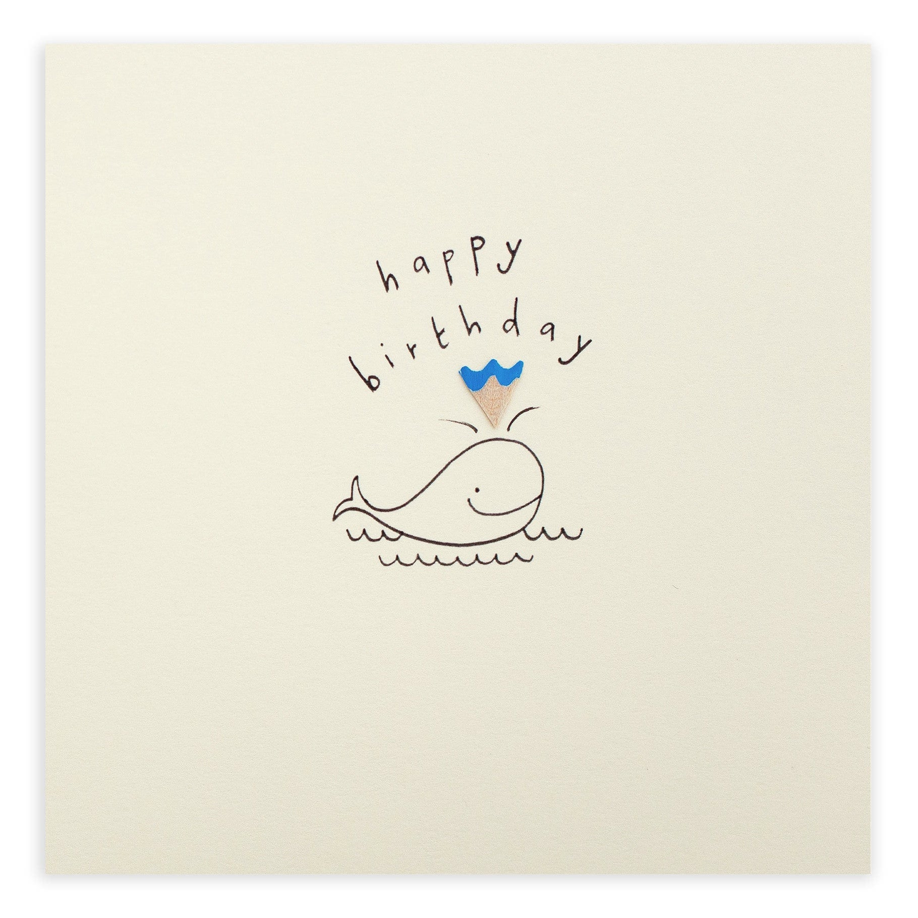 Birthday Whale - Greetings Card - Ruth Jackson - how-i-wonder