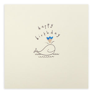Greetings Cards - Ruth Jackson - Birthday Whale - How I Wonder.co.uk