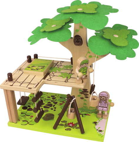 Wooden Toy - Nicko Q-Pack Tree House - How I Wonder.co.uk - 1