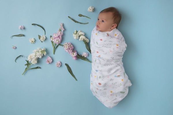 Pretty Foliage - Swaddle - Angel Dear - how-i-wonder