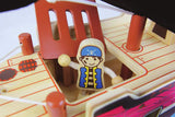 Wooden Toy - Nicko Q-PACK Pirate Boat - How I Wonder.co.uk - 4