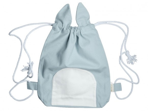 fabelab - Cat drawstring bag - blue