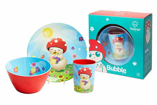 Children's Melamine Dinner Set - Bubble by Tulipop - How I Wonder.co.uk - 2