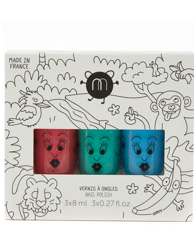 Nailmatic Kids - Jungle - Set of 3 nail varnishes