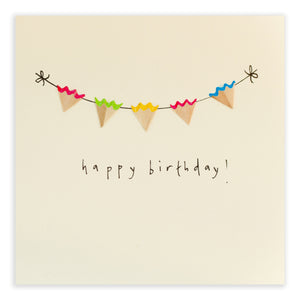 Birthday Bunting - Greetings Card - Ruth Jackson - how-i-wonder