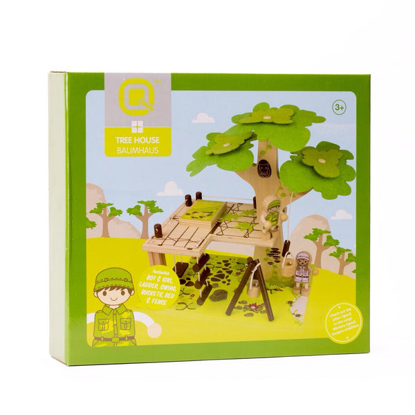 Wooden Toy - Nicko Q-Pack Tree House - How I Wonder.co.uk - 3