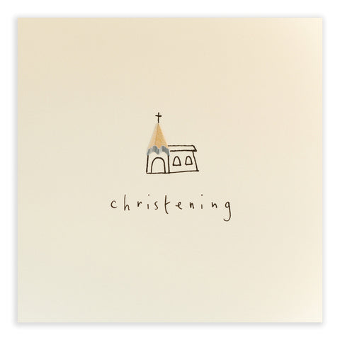 Christening Church - Greetings Card - Ruth Jackson - how-i-wonder