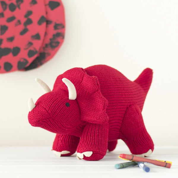 best years - triceratops - red dinosaur