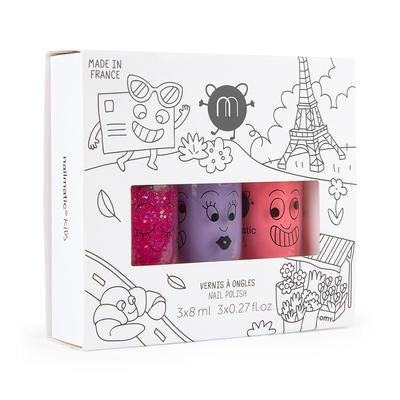 Nailmatic Kids - City - Set of 3 nail varnishes