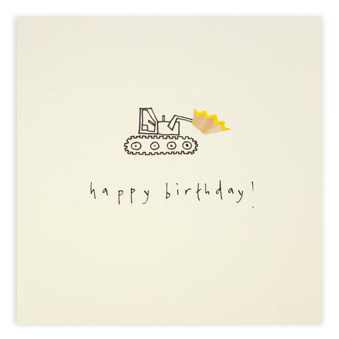 Birthday Digger - Greetings Card - Ruth Jackson - how-i-wonder