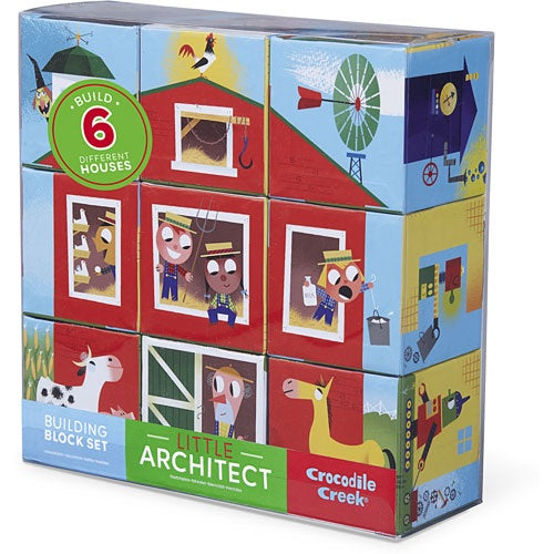 Jumbo Block Puzzle - Little Architect Barn - Crocodile Creek - how-i-wonder