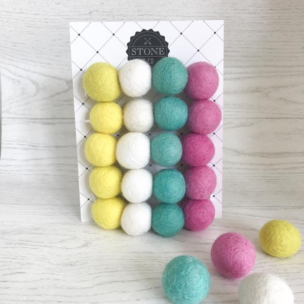 Felt Ball Garland - Summer Time - Stone & Co