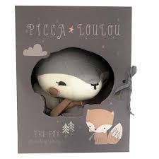 Pink Fox In Gift Box - Picca LouLou - how-i-wonder