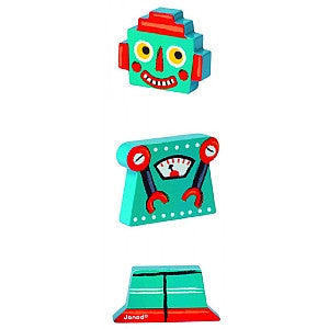 Janod - Wooden Funny Magnets - Robots - How I Wonder.co.uk - 2