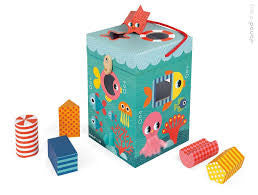 Ocean Themed - Shape Sorter - Janod - how-i-wonder