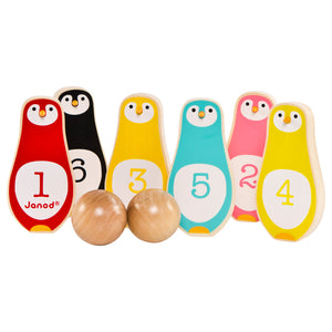 Janod Toys - Penguin - Skittles Game - how-i-wonder