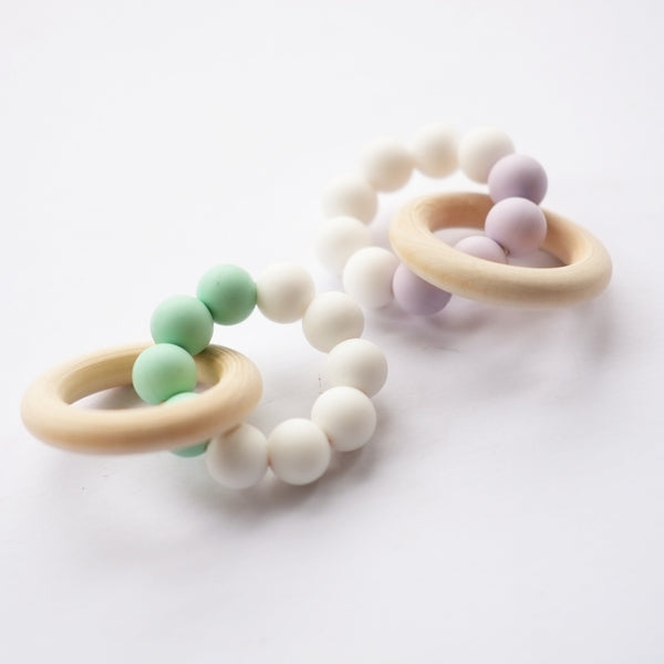 Teething Toy - Lavender/White - Blossom & Bear