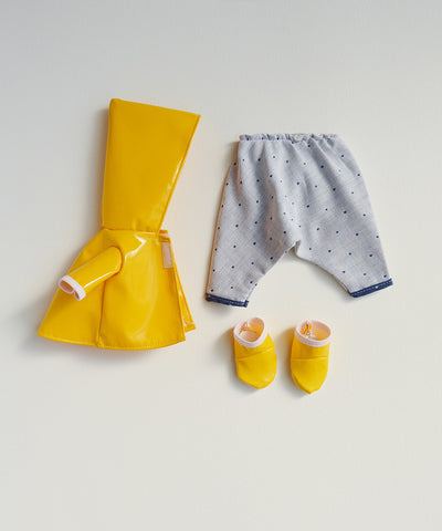 Organic Handmade Toys/Outfits - Hazel Village - Raincoat Set - How I Wonder.co.uk