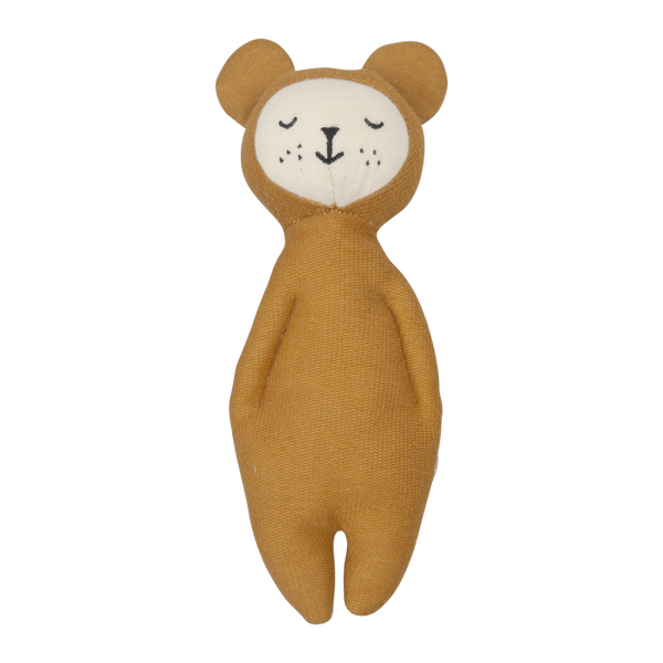Fabelab - Soft Rattle Bear - Ochre - how-i-wonder