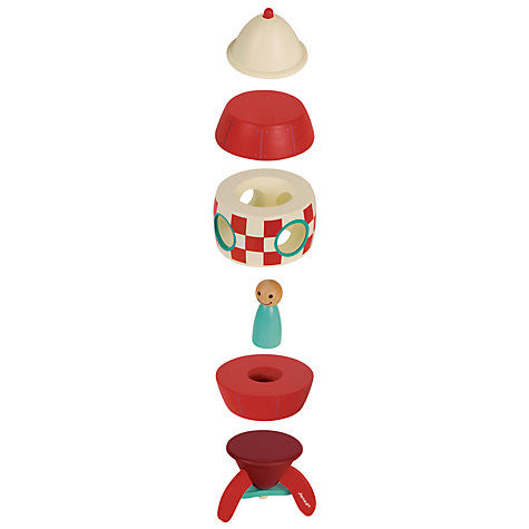 Janod Toys - Magnetic Wooden Toy Rocket - how-i-wonder