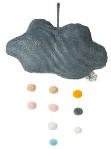Grey Hanging Pom Pom Cloud - Picca LouLou - how-i-wonder