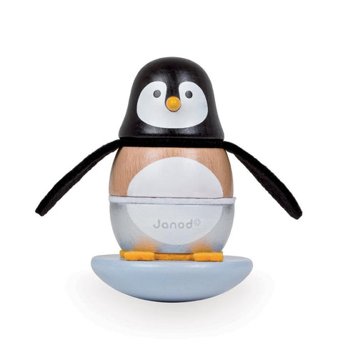 Janod Toys - Zigolos Penguin Stacker and Rocker - How I Wonder.co.uk - 1