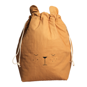 Fabelab - Small Bear Storage Bag - Ochre - how-i-wonder