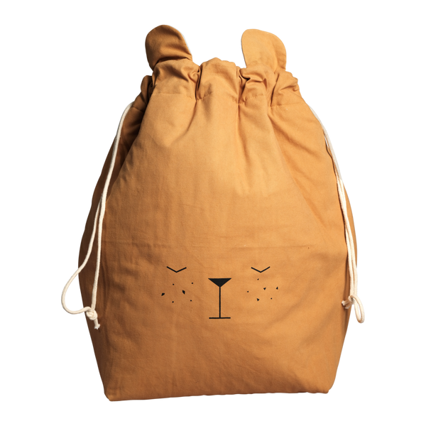 Fabelab - Large Bear Storage Bag - Ochre - how-i-wonder