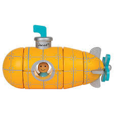 Janod Toys - Magnetic Wooden Toy - Submarine - how-i-wonder