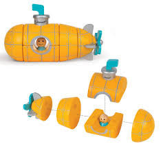Janod Toys - Magnetic Wooden Toy - Submarine - How I Wonder.co.uk - 2