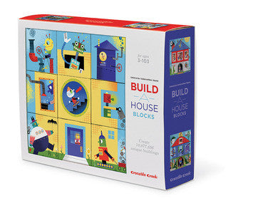 Crocodile Creek - Block Puzzle - Build A House - how-i-wonder