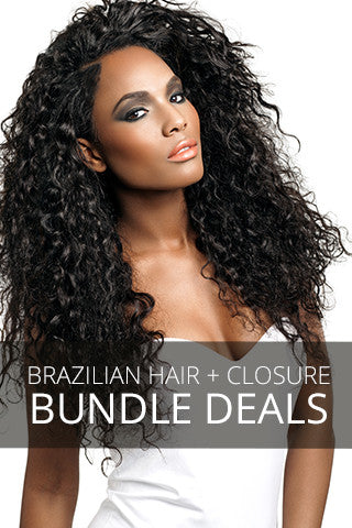BRAZILIAN HAIR BUNDLES + CLOSURE