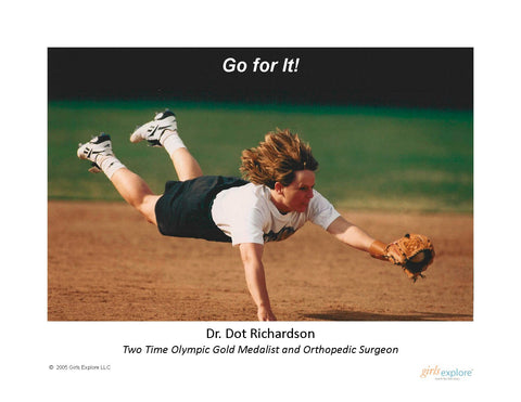 Dot Richardson Softball Diving Poster