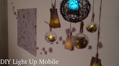 DIY Twinkling Light Up Mobile With Flameless Lights