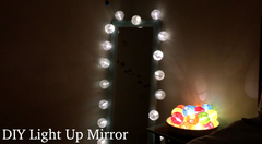 DIY Light Up Mirror Or Bedside Night Light