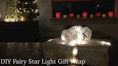 DIY Fairy Star Light Gift Wrap - Make Your Gift Twinkle!