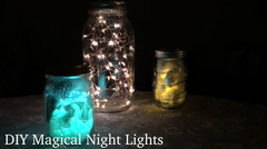 DIY Magical Night Lights Done 3 Different Ways