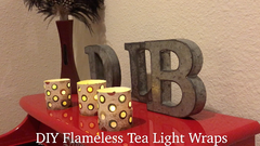 DIY Candle Wraps with Frux Flameless LED Tea Lights