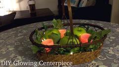Glowing Centerpiece DIY with Fairy Star Lights and Flameless Votives