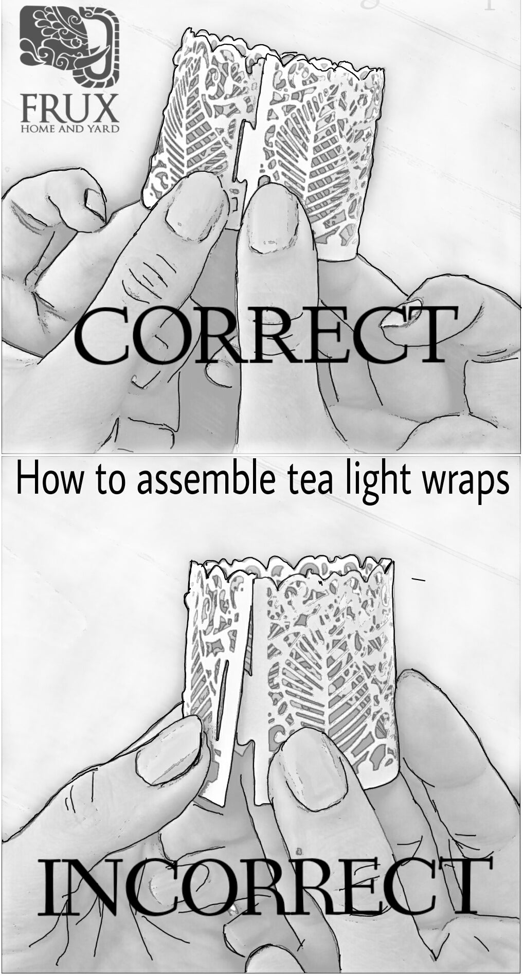 Wrap folding Instructions