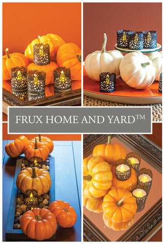 fall centrepieces Frux Home & Yard Tea Lights