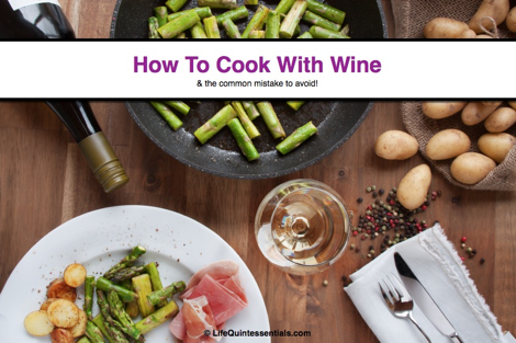 How to cook with wine